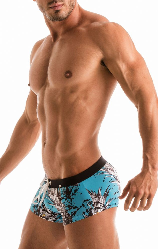 Geronimo Mens Blue  Swimwear Boxer Trunks 1908b2